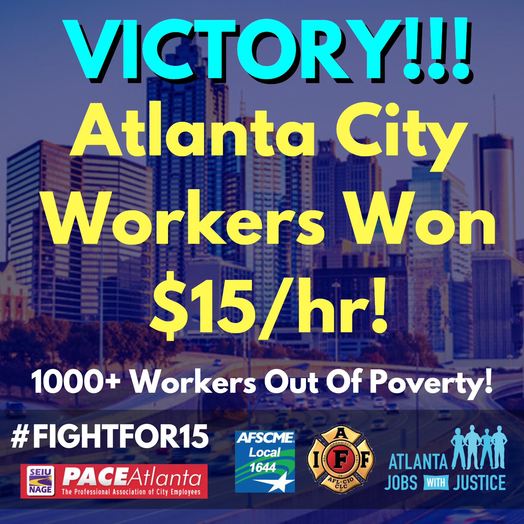 Atlanta City Workers Win $15/hr! | Metro Atlanta DSA